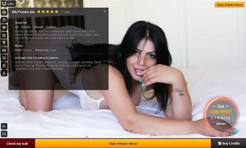A sexy mature model in private, with her bio on display - LiveJasmin.com